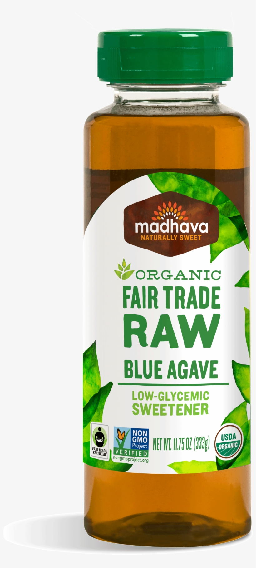 Organic Fair Trade Raw Agave - Madhava Organic Raw Agave Nectar - 23.5 Fl Oz, transparent png #678903