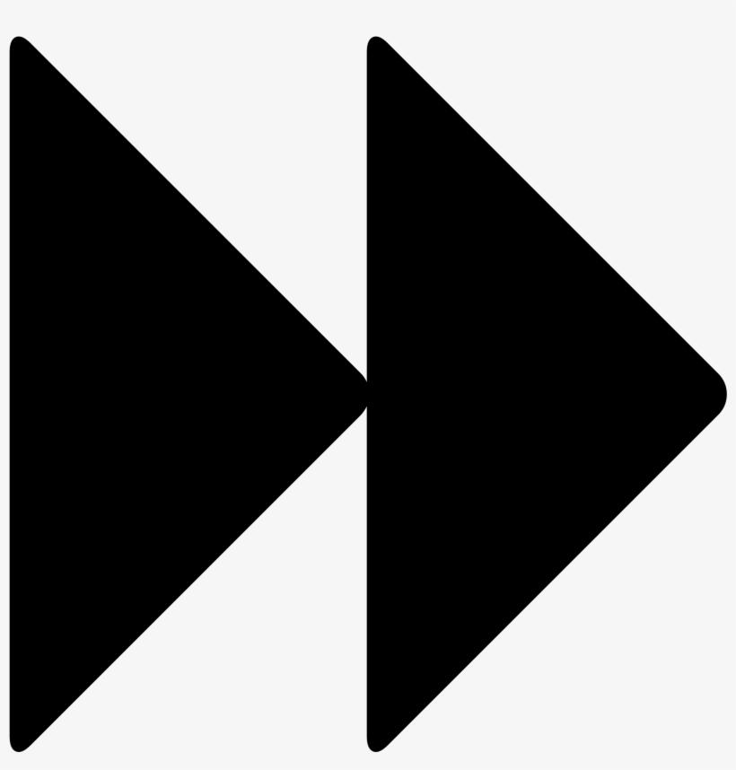 Fast Forward - Fast Forward Symbol Vector, transparent png #679228
