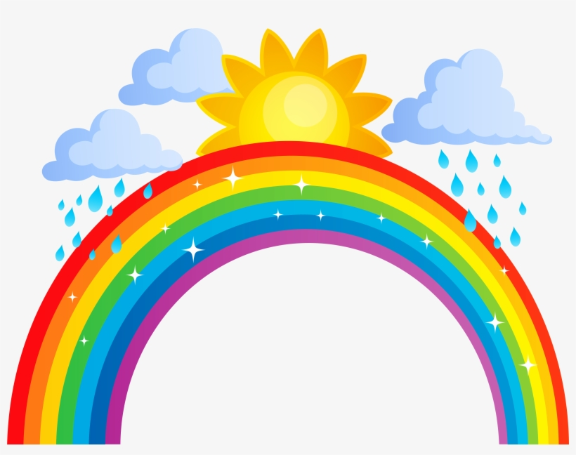 Banner Royalty Free Stock Clouds Png Transparent Clip - Rainbow Sun And Clouds, transparent png #679670