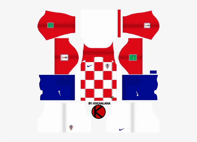 Croatia 2018 World Cup Kit - Croatia Kit Dream League Soccer, transparent png #679912