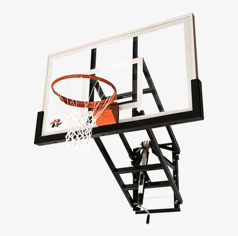 Ryval 60″ Wm60 Wall Mount Basketball Goal - Ryval Hoops Wm54 Wall Mounted Basketball Hoop System, transparent png #682006