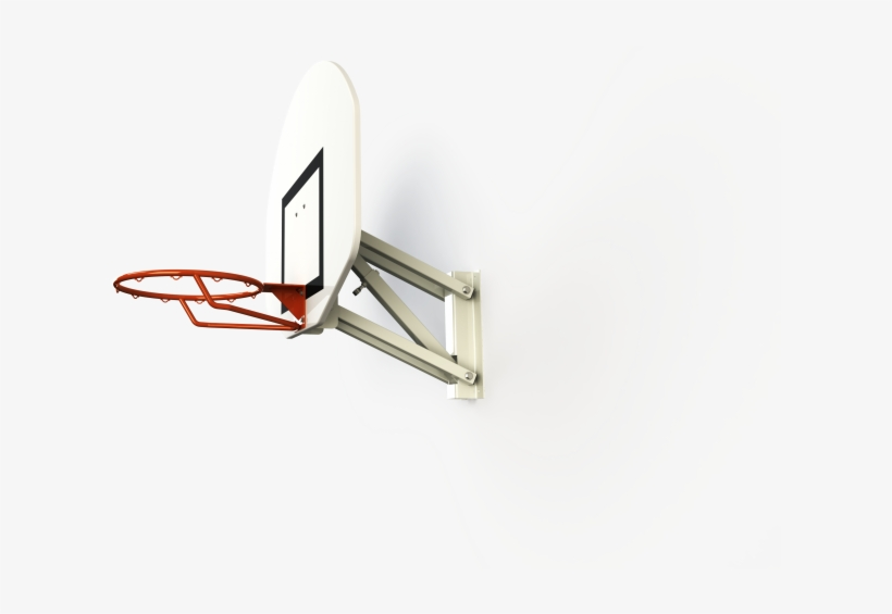 Basketball Goal Wall-mounted - Metalu Basketball Goal Wall-mounted - Adjustable Head, transparent png #682097