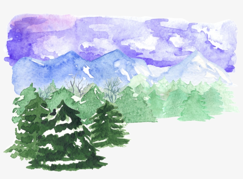 This Backgrounds Is Forest Watercolor Illustration - Watercolor Painting, transparent png #682181