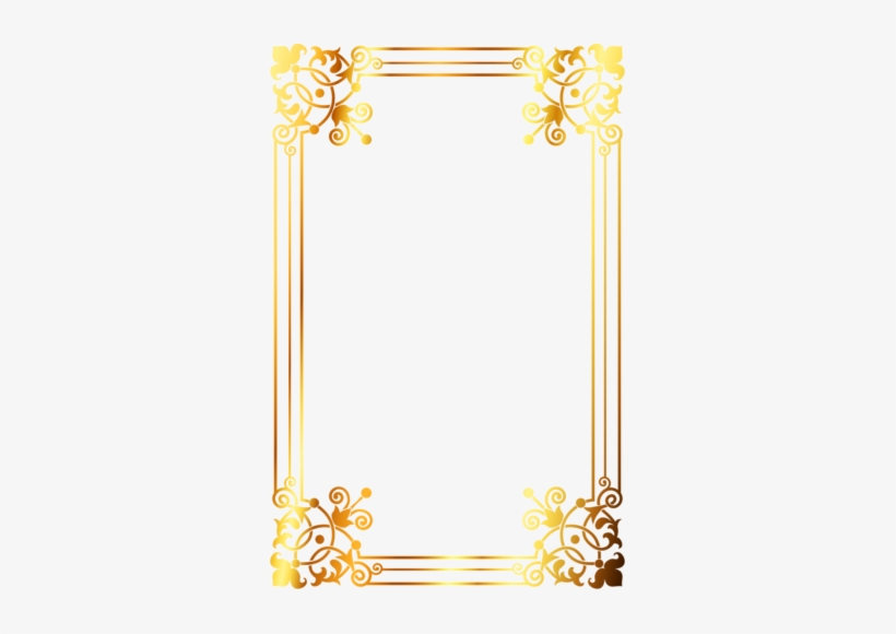 Wallpaper - Golden Border Design, transparent png #683299