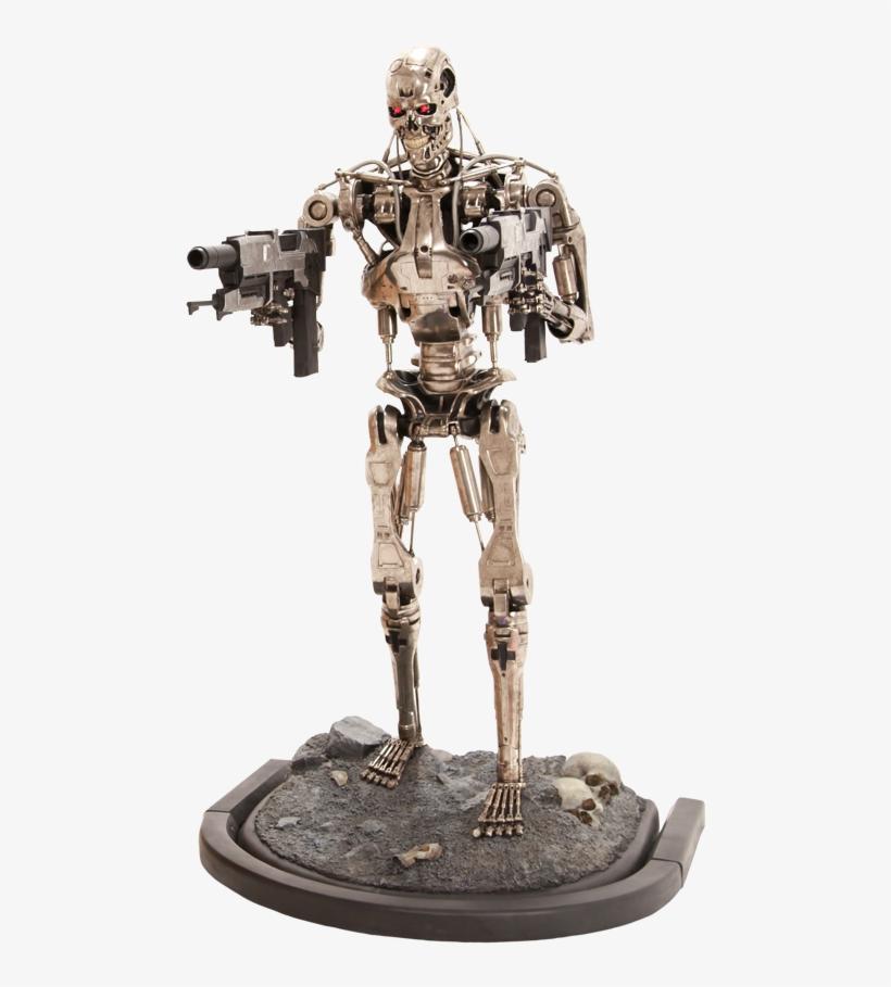 T 800 Endoskeleton Life Size Figure - Sideshow Terminator Life Size Statue, transparent png #683346
