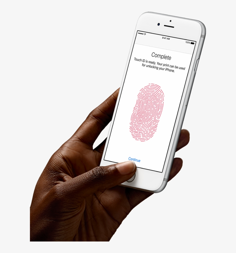Touch Id Lets You Unlock Your Phone And Make Secure - Iphone 6 Rose Gold Nz, transparent png #683400