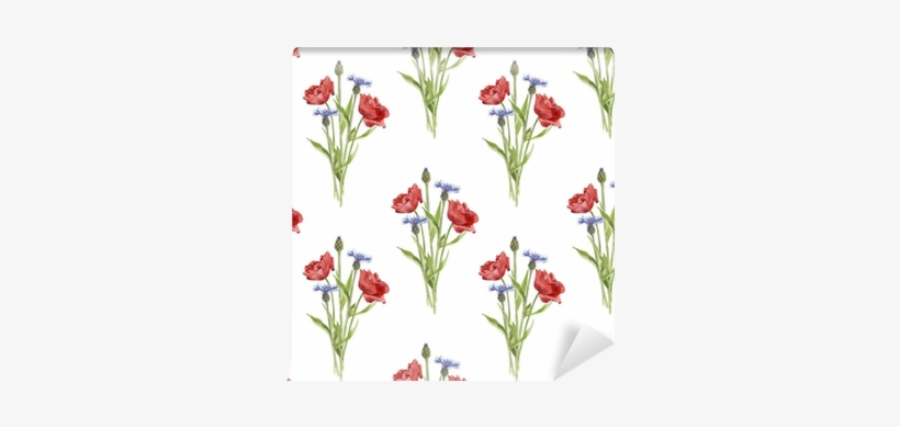 Vector Library Stock Seamless Pattern With Flowers - Watercolor Painting, transparent png #684013