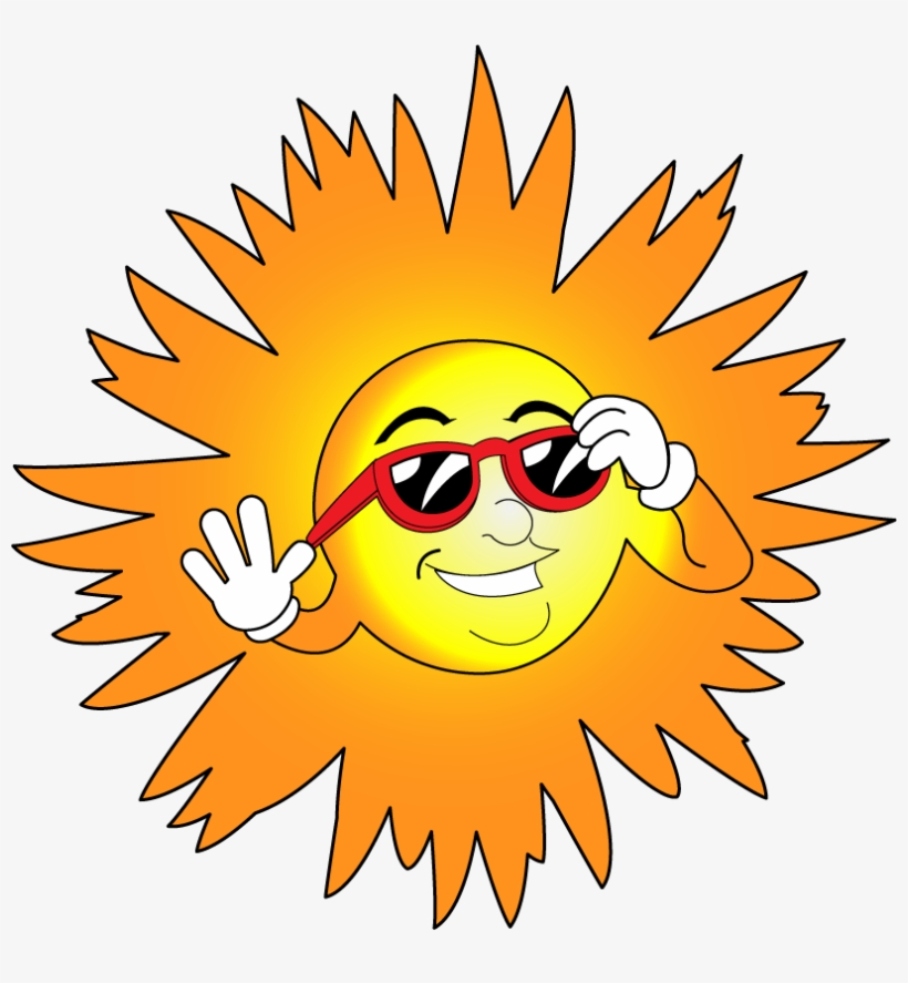 28 Collection Of Sun With Sunglasses Clipart Transparent - Sun With Glasses Clip Art, transparent png #687440