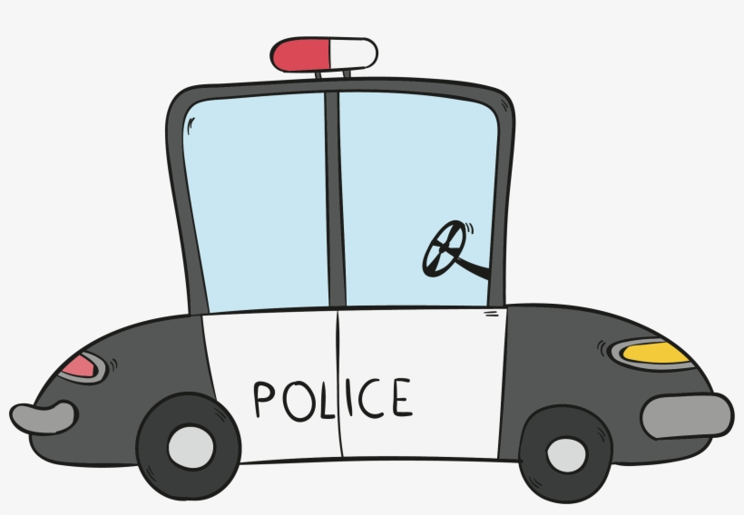 Clipart Library Car Download Hand Painted Police Transprent Police Car Cartoon Png Free Transparent Png Download Pngkey