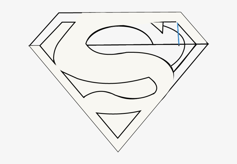 How To Draw Superman Logo Easy Step By Drawing Guides Drawing