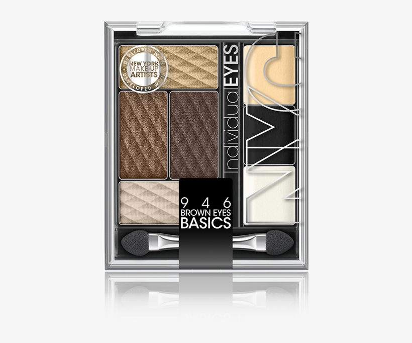 How To Apply - New York Color Individual Eyes Eyeshadow, Brown Eyes, transparent png #688316