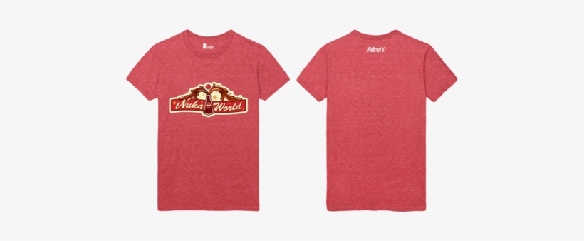 Nuka World Main Gate Heather Red T-shirt - Gb Eye Fallout Bottle And Cappy Collector Print, transparent png #688827