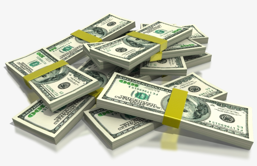 Hundred Dollar Bills - Stack Of Money Clipart - Free Transparent PNG  Download - PNGkey