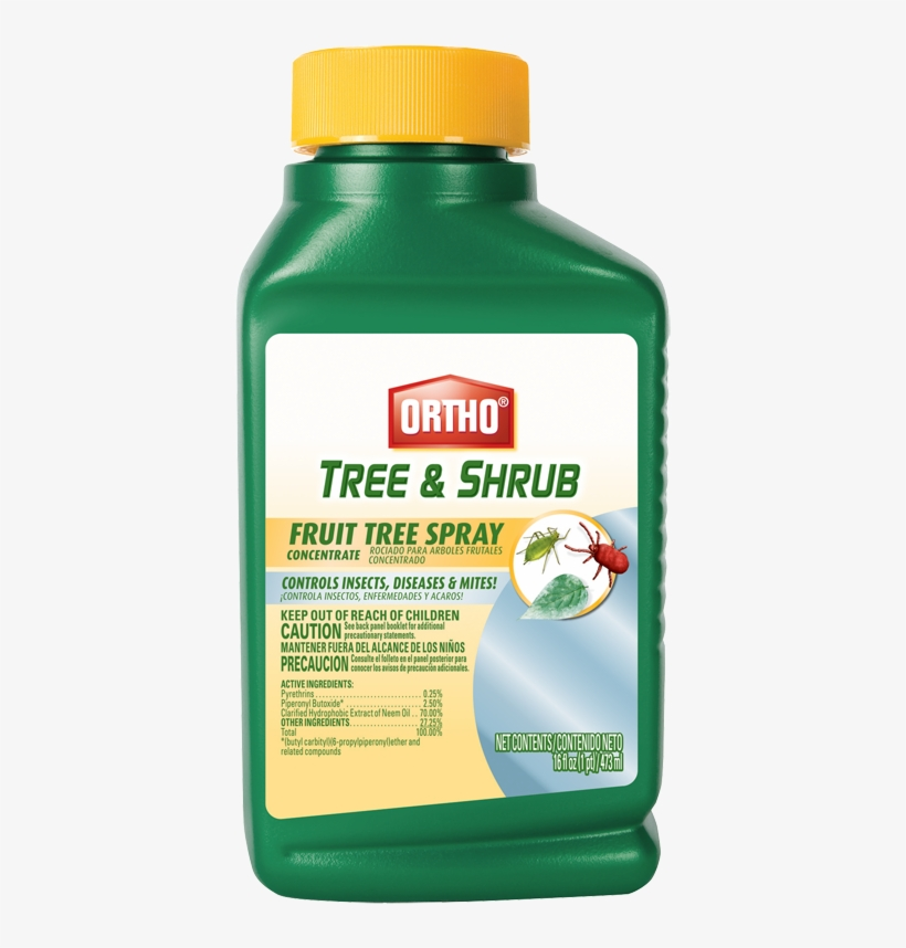 Ortho® Tree & Shrub Fruit Tree Spray Concentrate - Scotts Ortho Roundup Fruit Tree Spray, 3-in-1, 16-oz., transparent png #690936