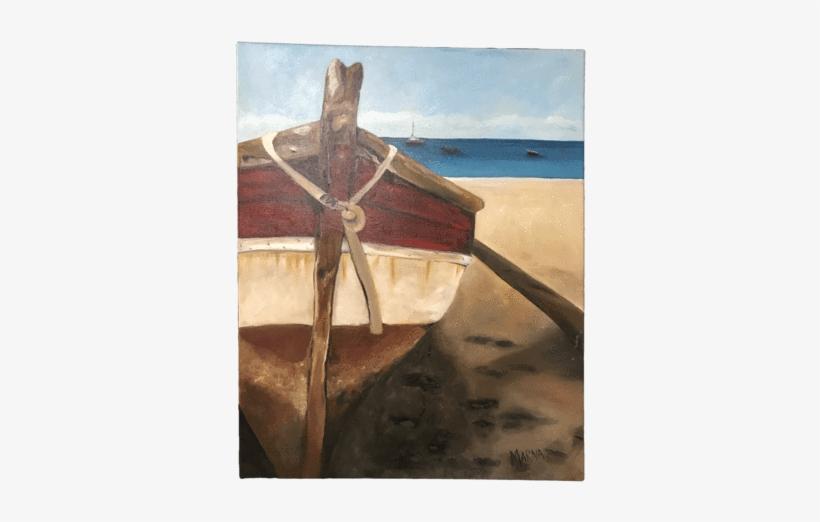 Boat Stranded - Boat, transparent png #691196