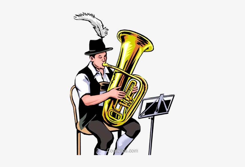 German Tuba Player Royalty Free Vector Clip Art Illustration - Tuba Player Png, transparent png #691231