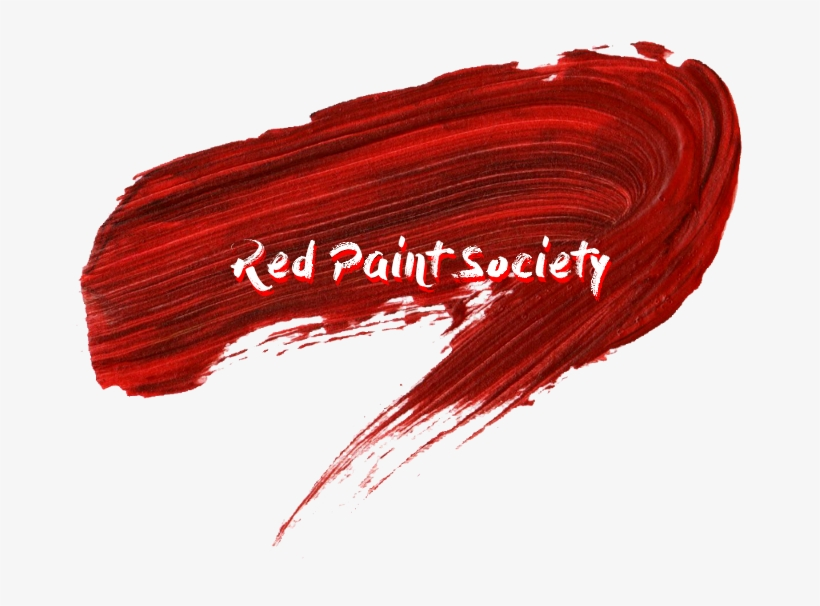 Red Paint Brush Strokes, transparent png #692939