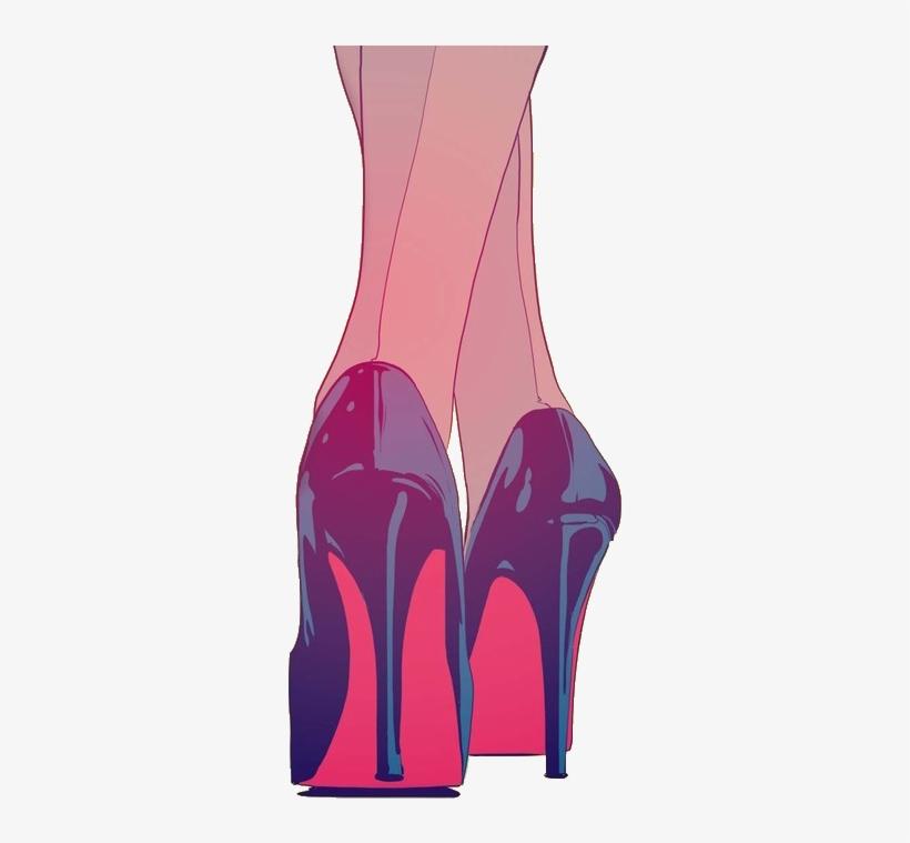 Drawing Art Girl Tumblr Fashion Heels Shoes Cartoon Heels Drawing