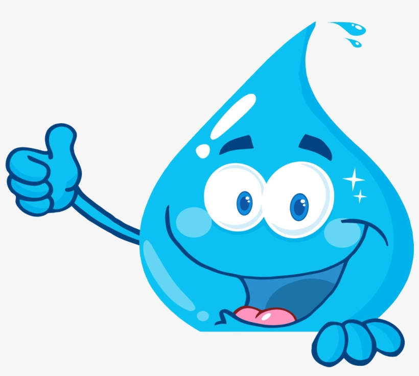 Clipart Library Stock Droplet Clipart - Smiling Water Drop, transparent png #693918