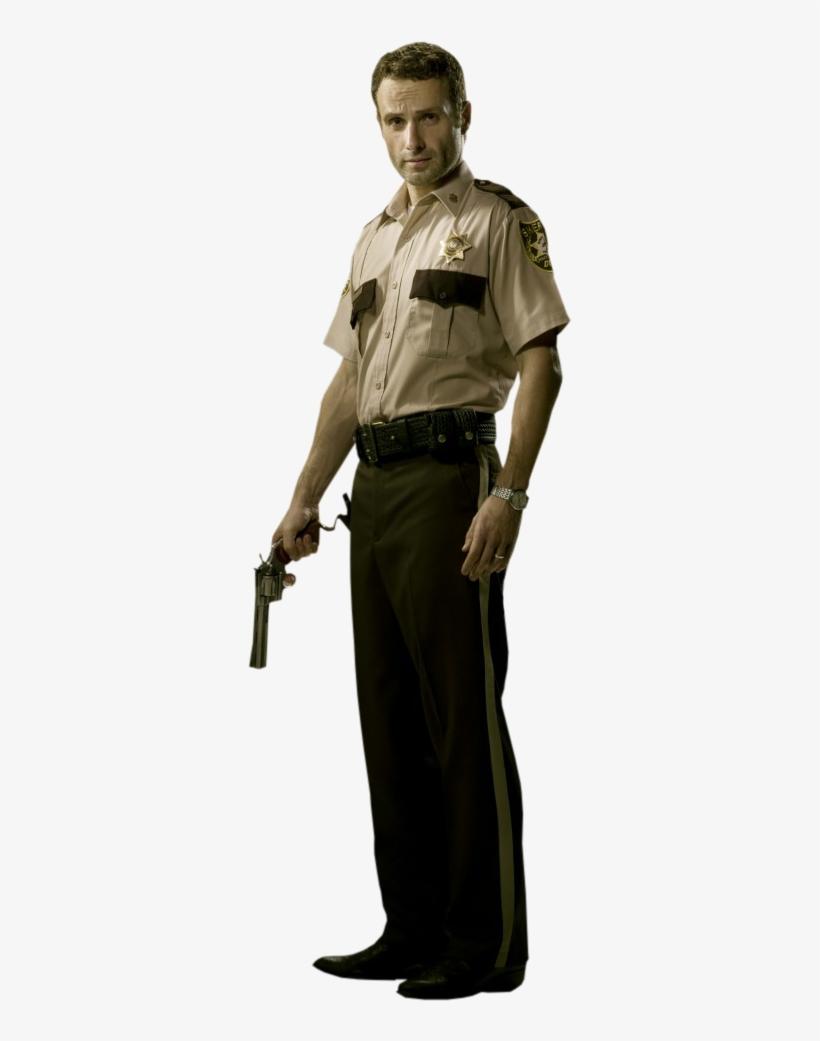 Rick Grimes The Walking Dead Tv Series - Walking Dead Rick Grimes Sheriff, transparent png #694953