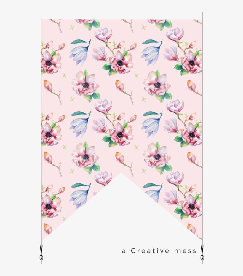 Watercolor - Kris Art 'magnolia Flower' Canvas Gallery Wrap, Size, transparent png #695787