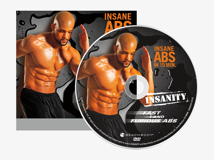 Insanity® Fast And Furious Abs Dvd - Insanity Fast And Furious Abs Dvd Workout, transparent png #696792