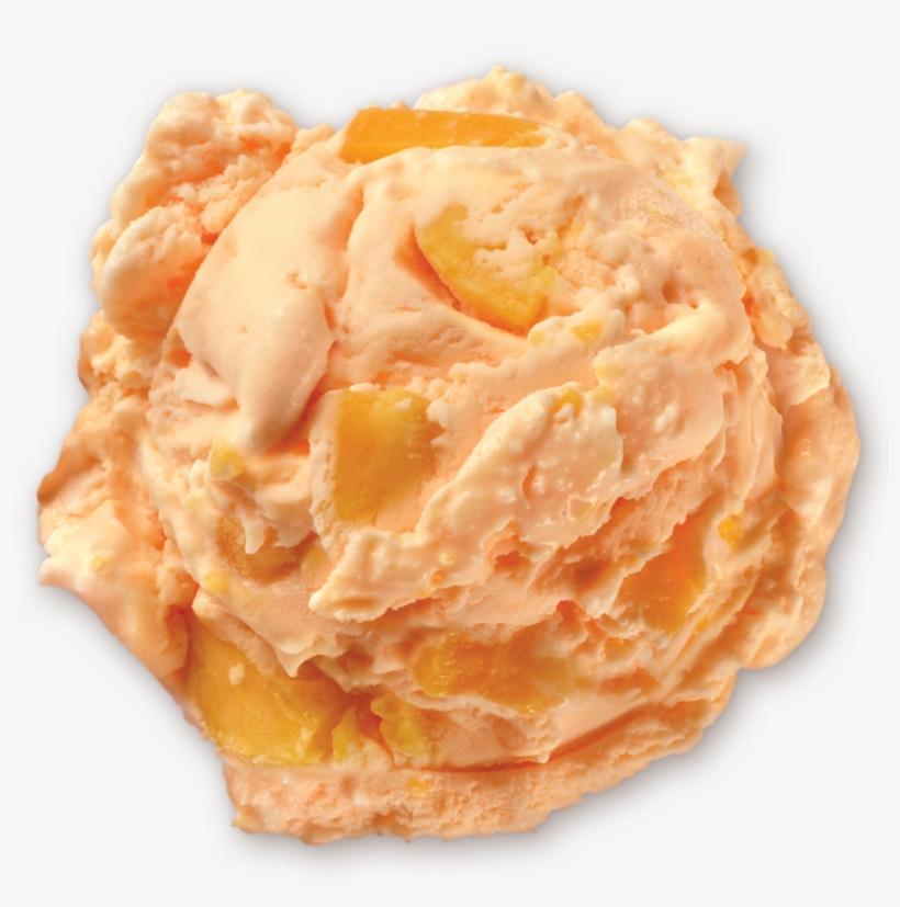 Homemade Brand Peaches & Peaches Ice Cream Scoop - Peach Ice Cream Scoop Png, transparent png #698255