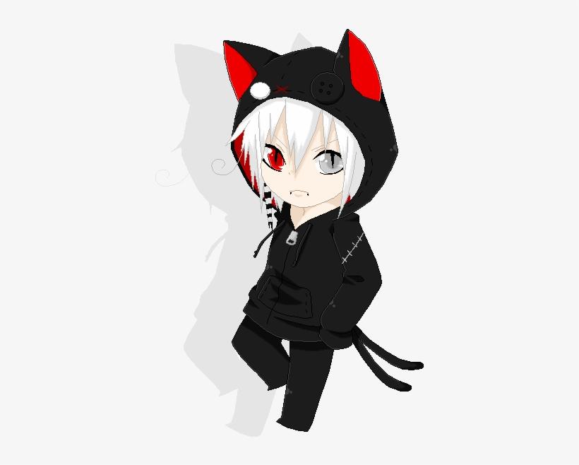 Chibi Suzuna Nekomata Hoodies By Psychose Shk-d6mbpuw - Chibi Boy Anime Chibi, transparent png #699612