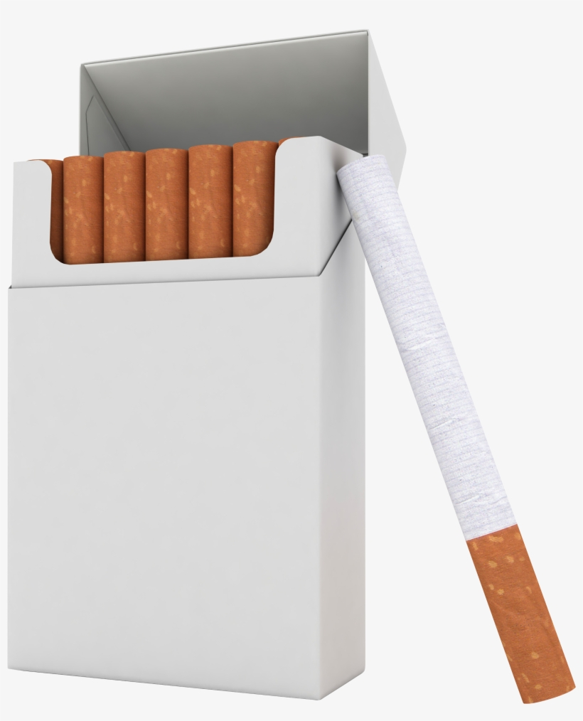 Drawn Cigarette Transparent Background - Pack Of Cigarettes Clipart, transparent png #699631