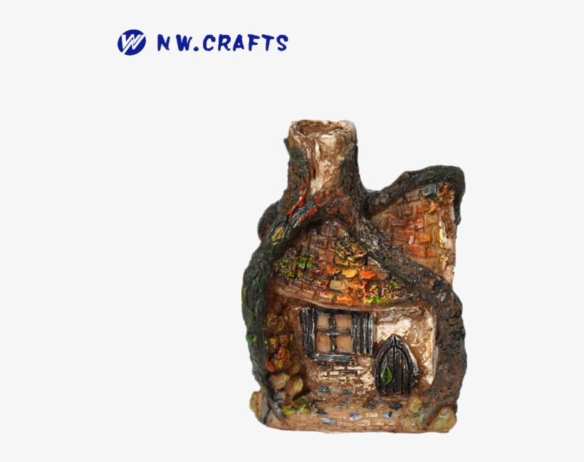 Handmade Kid Toy Garden Resin Fairy House Model For - Free