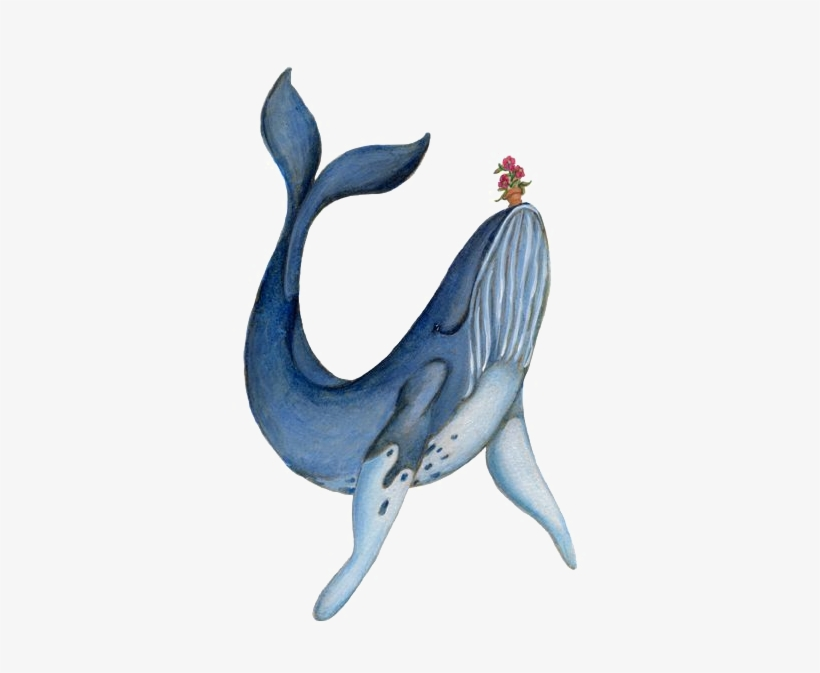 Clipart Royalty Free Stock Blue Whale Painting Illustration - Guide To The Galaxy Whale, transparent png #70463