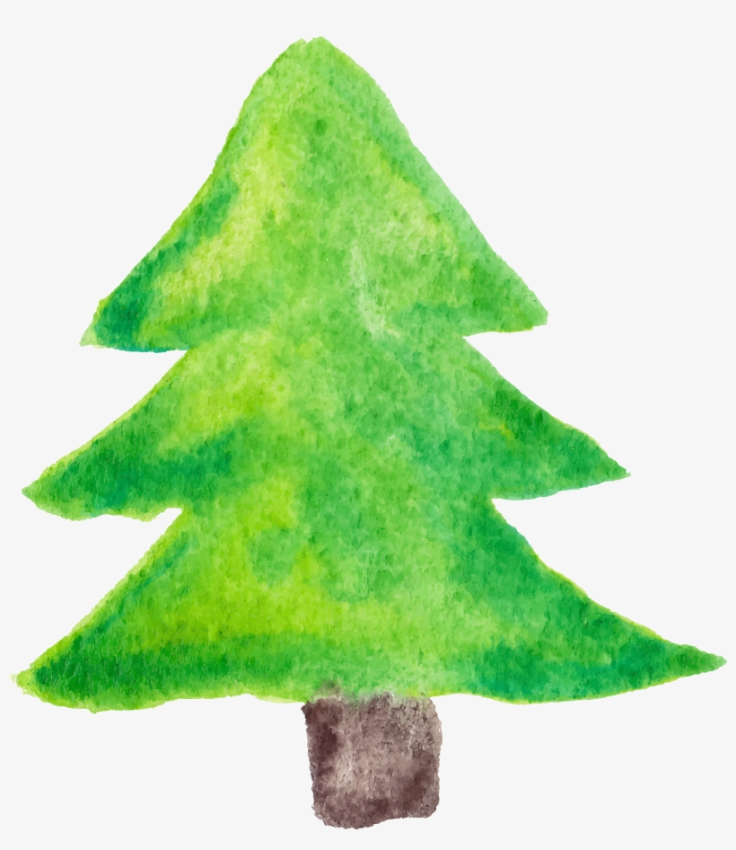 Watercolor Pine Tree Png - Christmas Tree, transparent png #70513