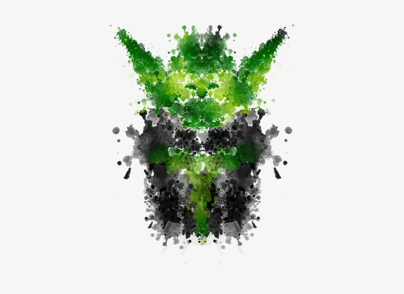 Click And Drag To Re-position The Image, If Desired - Rorschach Yoda Canvas Print - Small By Badbugs Art, transparent png #70995