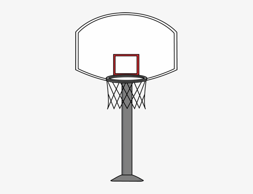 Printable Basketball Art - Draw A Basketball Goal, transparent png #71749
