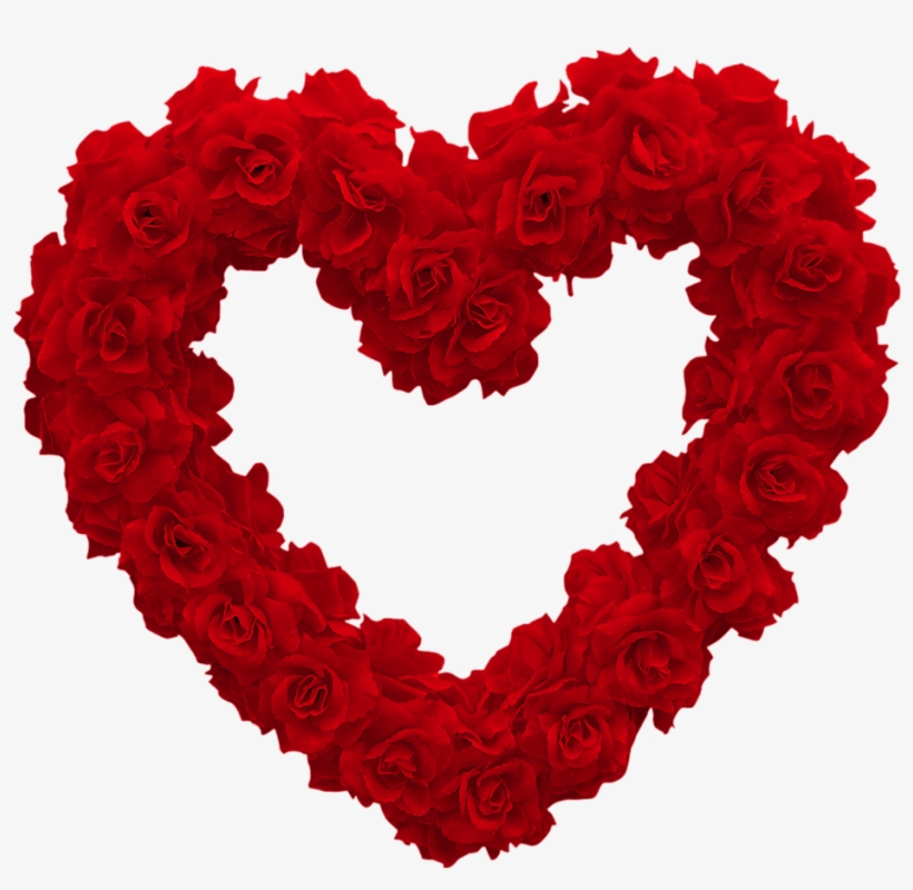 Rainbow Heart, Be My Valentine, Valentines Flowers, - Love Heart Of Roses, transparent png #71921