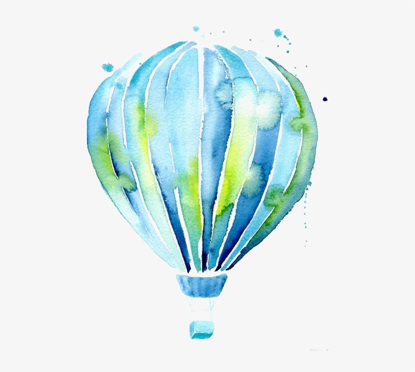 Hot Air Balloon Drawing Watercolor Painting Illustration - Hot Air Balloons Drawing, transparent png #72019