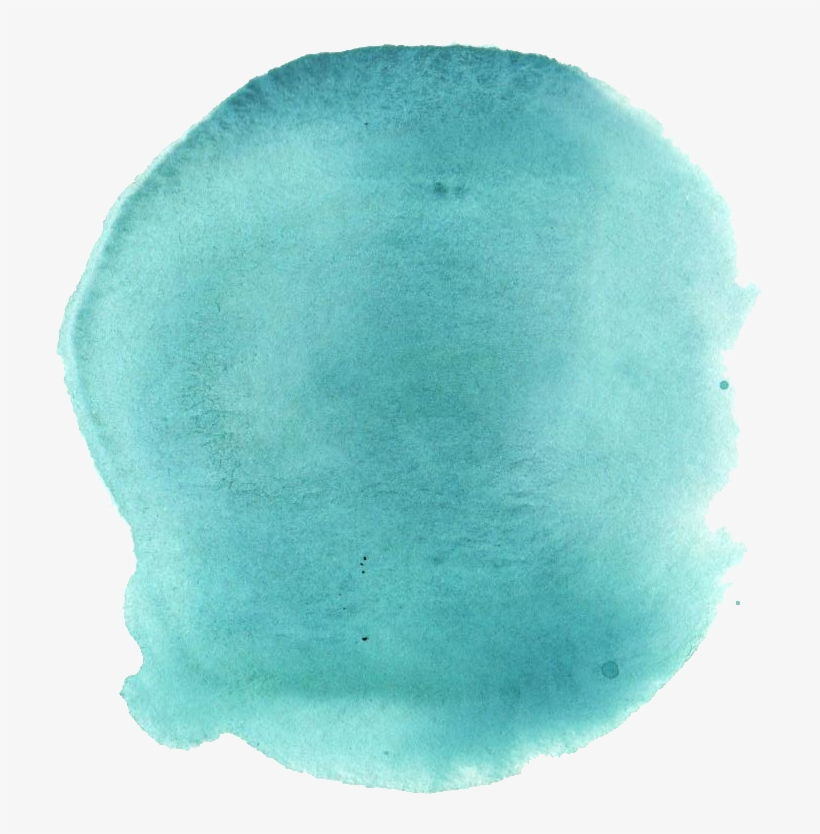 Free Download - Turquoise Watercolor Png, transparent png #72467