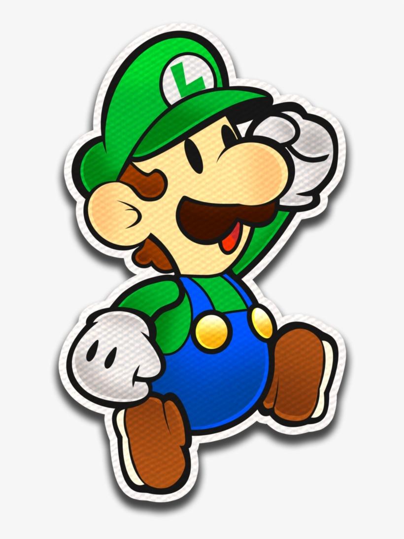 Paper Luigi- Color Splash Style By Fawfulthegreat64 - Paper Luigi Color Splash, transparent png #72580