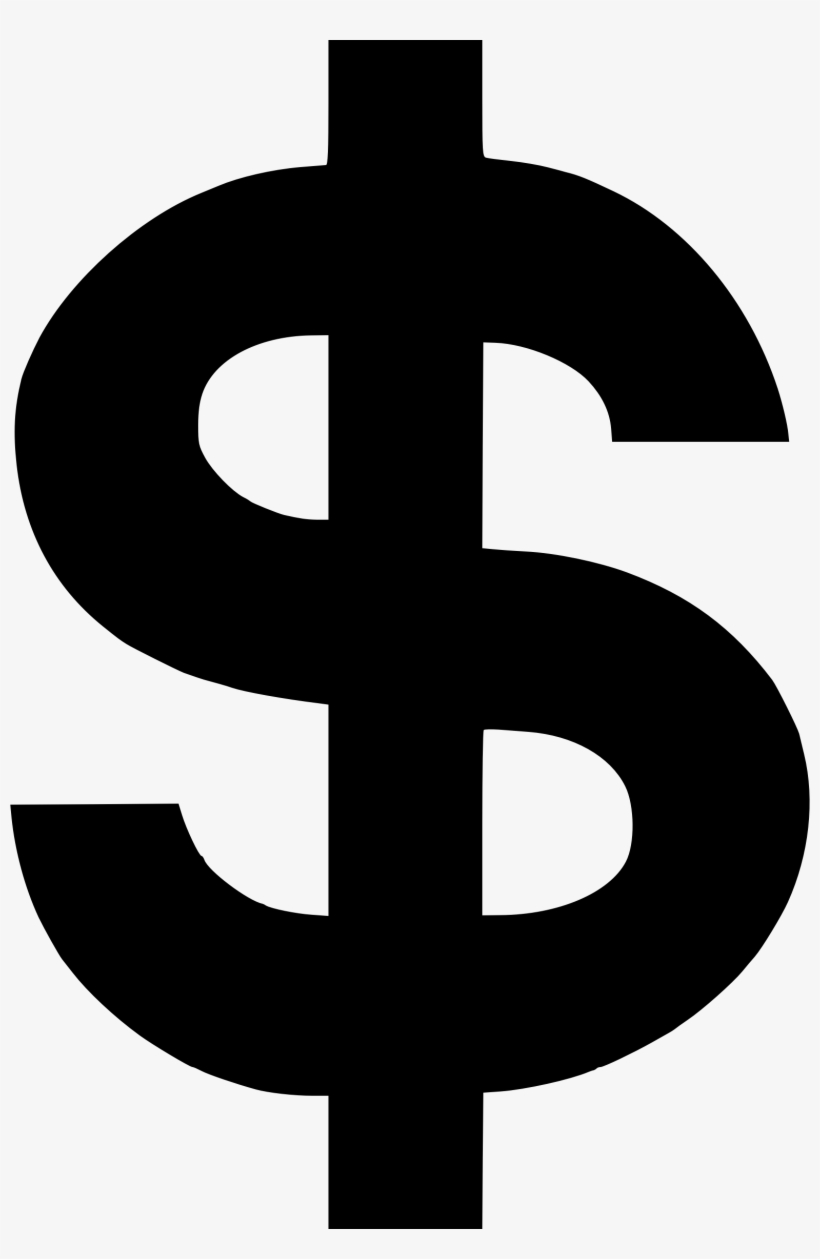 This Graphics Is 4 Of The Money About Dollar, Dollar - Black Dollar Sign Png, transparent png #72787