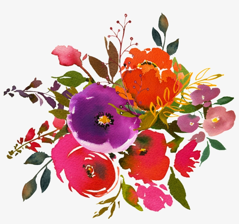 Hand Painting Watercolor Flower Png Transparent On - Watercolor Painting, transparent png #72936