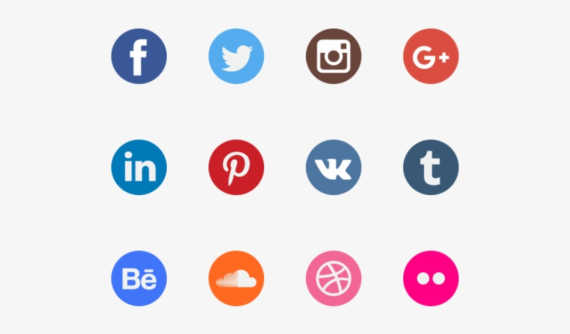 The Power Of Social Media - Watercolour Social Media Icons, transparent png #72941