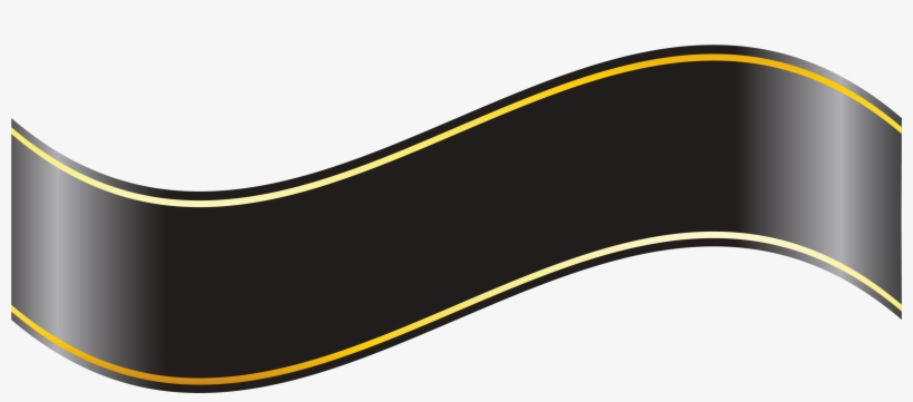 Black And Gold Ribbon Png, transparent png #73636