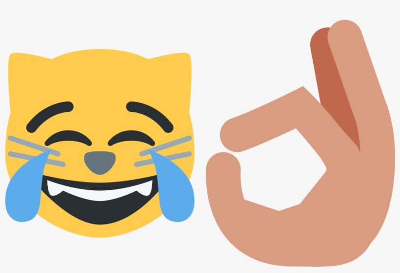 Hand Emoji Crying Laughter Em - Cat Joy Emoji, transparent png #74267