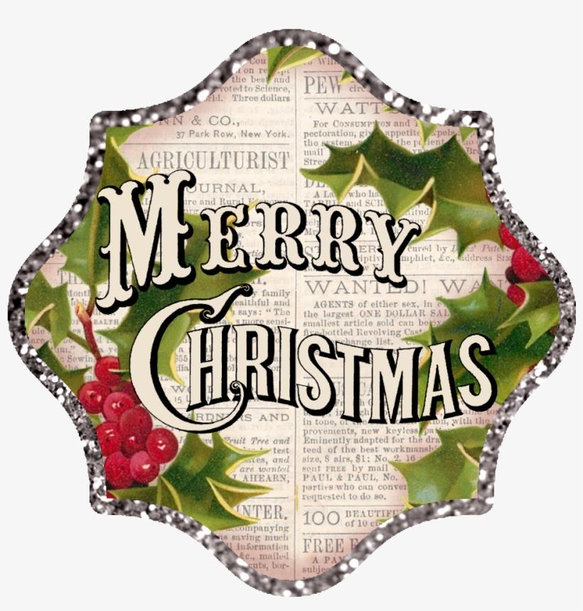 Transparent Vintage Merry Christmas Clipart - Merry Christmas Logo Vintage, transparent png #75298