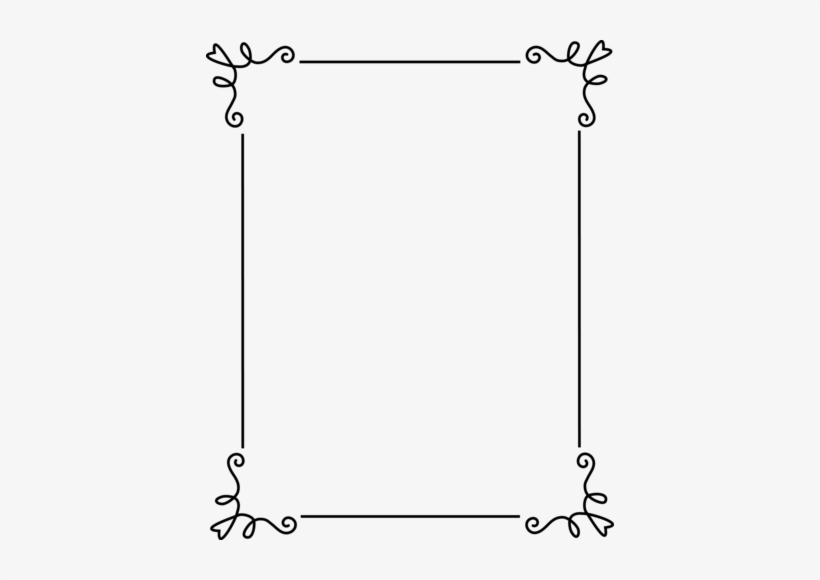 Fancy Wedding Border Png - Simple Frames And Borders, transparent png #76008