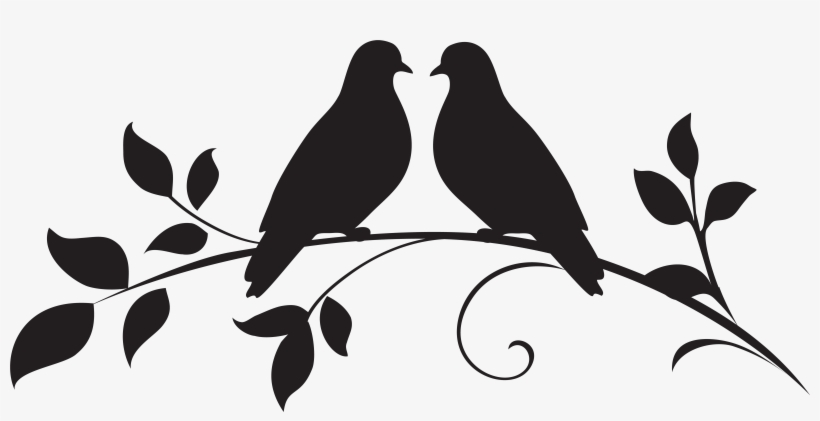 Dove Clipart Silhouette - Love Birds Silhouette Png, transparent png #76101