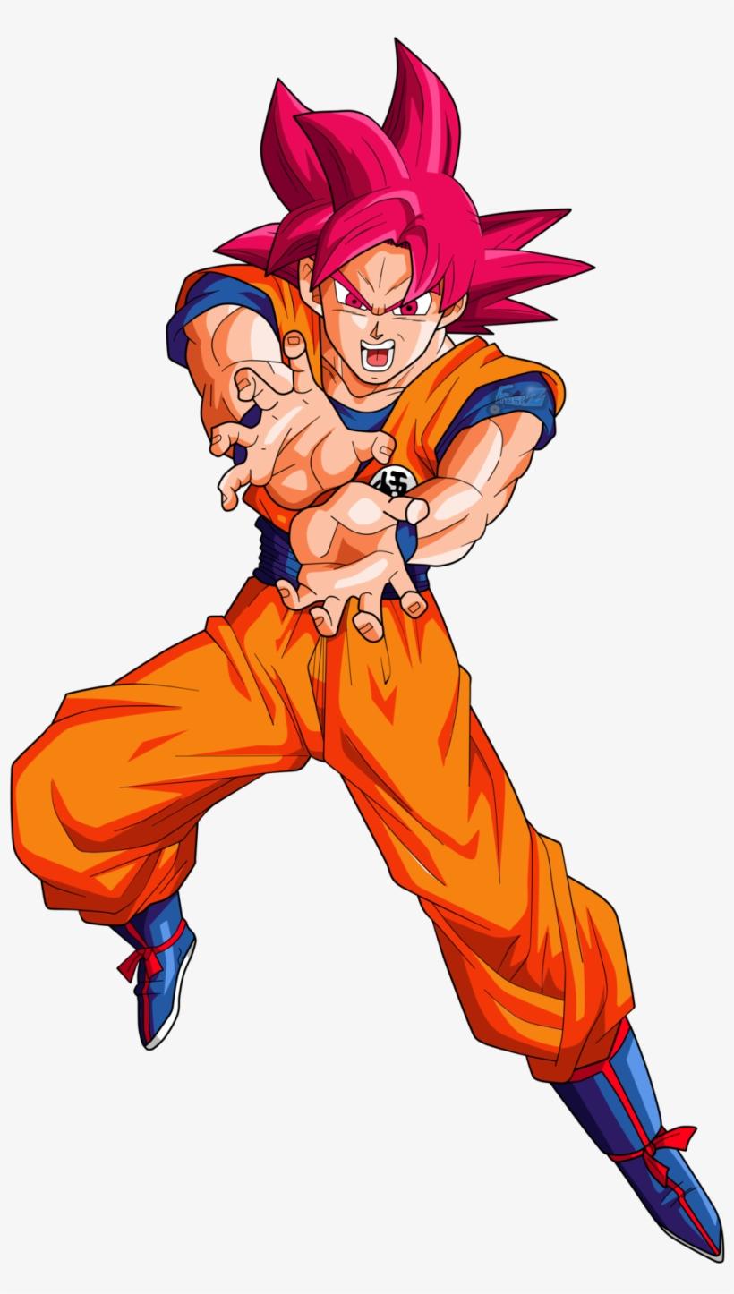 Goku Super Saiyan God By Frost Z-daipjm1 - Goku Ssj Dios Rojo Kamehameha, transparent png #76822