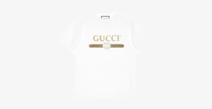 364f5adb Gucci Logo Cotton T-shirt - Supreme Box Logo Tee - Free Transparent ...
