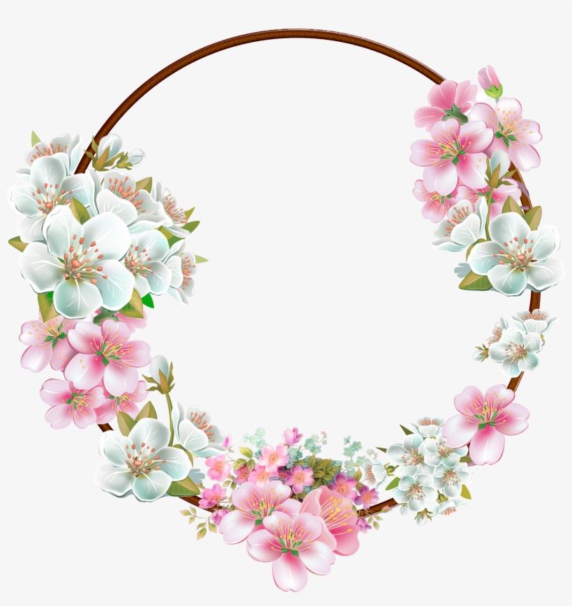 Flower Border Png, Flower Frame Png, Floral Border, - White Flower Frame Png, transparent png #78072