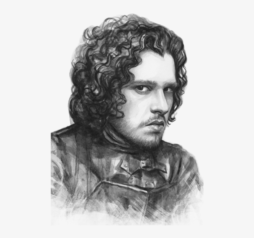 Click And Drag To Re-position The Image, If Desired - Game Of Thrones Jon Drawing, transparent png #78698